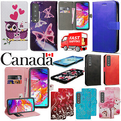 For Samsung Galaxy A20 A30 A50 PU Leather Wallet Flip Stand Magnetic Case Cover