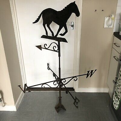 Antique Iron Horse Weather Vein Folk Art