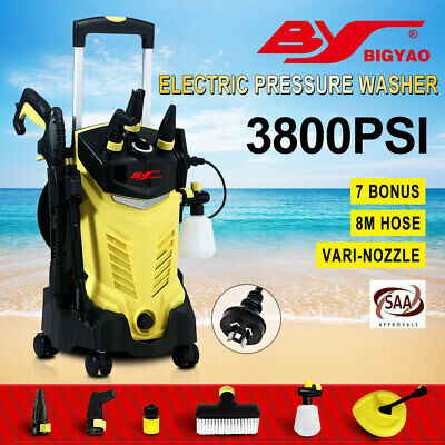 BIG-YAO 3800 PSI High Pressure Washer Cleaner Electric Water Hose Gurney Pump