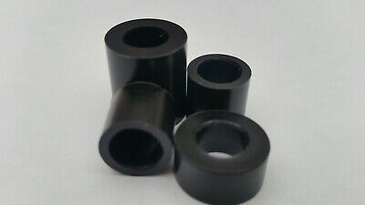 Black Nylon Acetal Plastic SPACERS Standoff Washer M4 M5 M6 M8 M10 M12 spacer