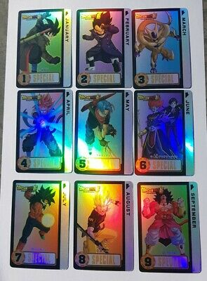 Carte Dragon Ball Z Special Calendrier Original Rainbow Laser prism