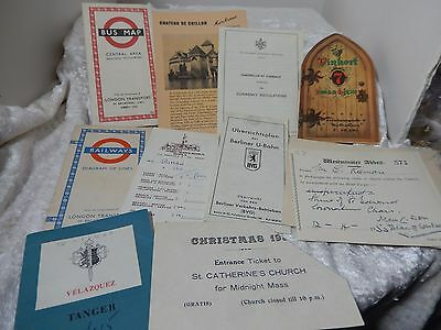 Foreign Brochure Maps Travel Memorabilla lot of 9