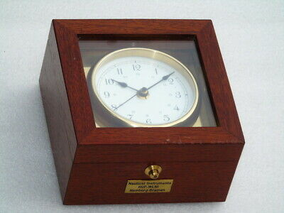 Mahogany Cased Marine Nautical Instruments Hamburg Bremen Chronometer Deck Watch
