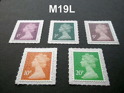 NEW JULY 2019  2p 5p 10p M19L Set of Machin SINGLE STAMPS from Counter Sheet