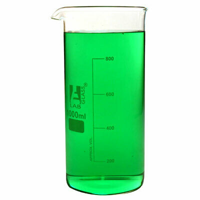 LabGlass Tall Form Beaker with Spout Graduated 1000ml Pack of 6