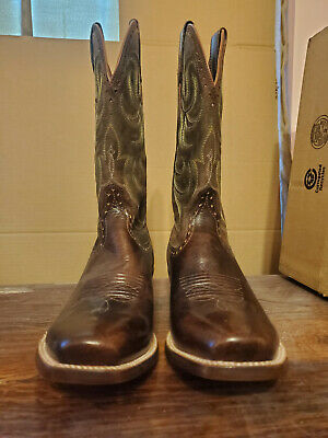 082a9d30f6d MEN'S ARIAT 10012763 Turnback Square Toe leather Western Cowboy Boot ...