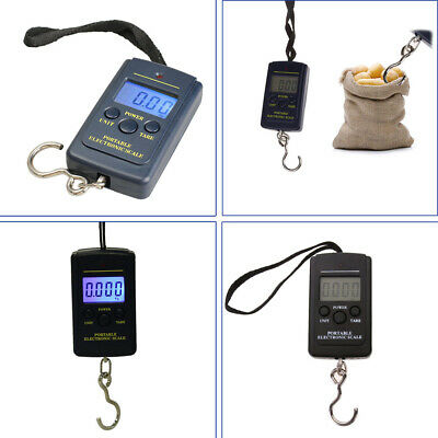 Portable 40KG Digital Travel Weighting for Suitcase luggage Hanging Hook Scale