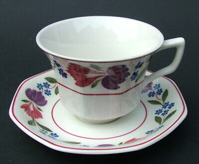 Vintage 1990's Adams Old Colonial Pattern Sm 120ml Coffee Cups & Saucers in VGC