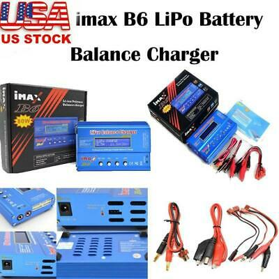 iMAX B6 80W RC Lipo LCD Screen Digital NiMh Battery Balance Charger Adapter US