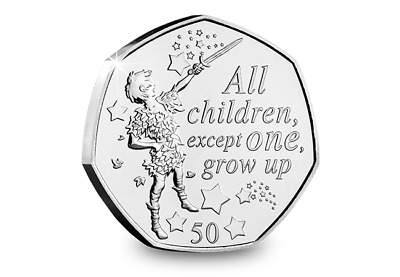 2019 Isle of Man Peter Pan 50p coin - Uncirculated