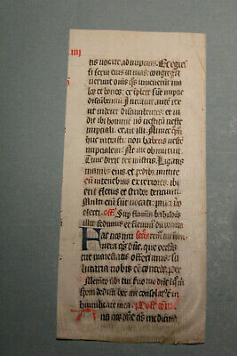 C1400 decorated latin medieval psalter missal fragment manuscript vellum