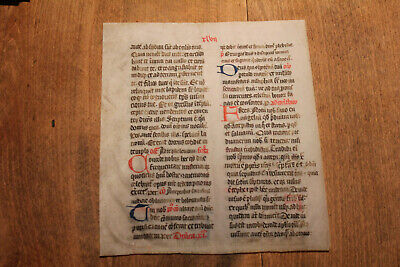 C1400 decorated latin medieval psalter liturgical manuscript vellum versal initi