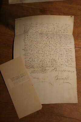 1612 French Queen servant gentleman signed manuscript document BASTILLE Casstle