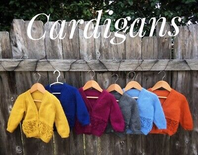 Cardigan, Newborn or 6-18 Months, Hand Knitted