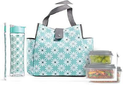 44fcc14624c1 FIT FRESH Women's Westport Insulated Lunch Bag with Matching ...