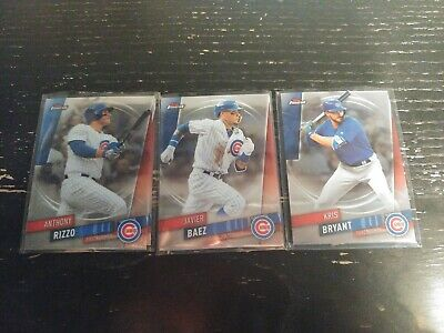 Chicago Cubs 2019 Topps Finest Javier Baez Kris Bryant Anthony Rizzo
