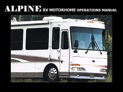 WESTERN RV ALPINE MOTORHOME MANUALS - 310pg with Operations Service