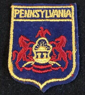 PENNSYLVANIA State Seal Vintage Souvenir Travel Patch Coat Of Arms