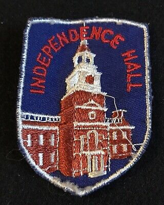 INDEPENDENCE HALL Vintage Souvenir Travel Patch Philadelphia PENNSYLVANIA