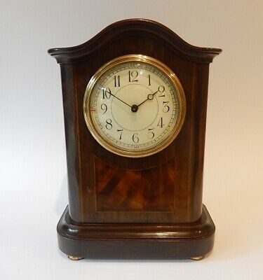 Superb French Inlayed Mahogany Case Mantel Clock Fully Working 2999