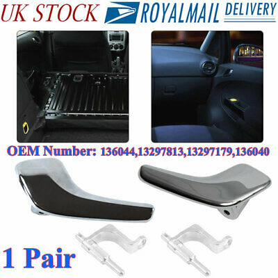Vauxhall Corsa D Chrome Interior Door Handle Right With Connecting Rod 13297813 Window Motors Winders Parts Car Parts