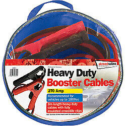 Streetwize Car Van Bike Booster Cable with Fully Insulated Crocodile Clips 3m