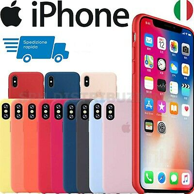 Cover Per Apple iPhone X XR XS Max 8 7 6S+ Plus Silicone Originale Soft Custodia