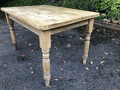 Victorian Rustic Farmhouse Scrub Top Dining Table/ Kitchen Prep Table.