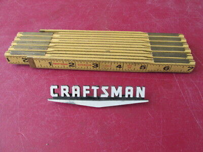 Vintage Craftsman Folding Rule. No. 3931 ~ 6' Length with Brass Ends~MADE IN USA