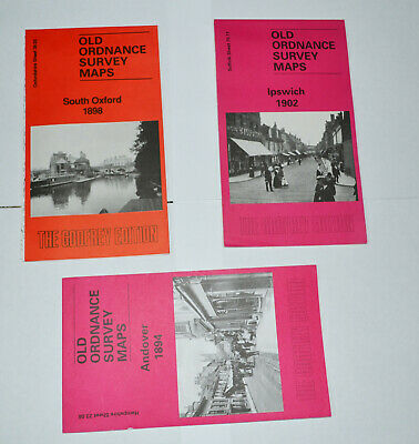 Ordnance Survey Maps South Oxford 1898 Ipswich 1902 Andover 1894