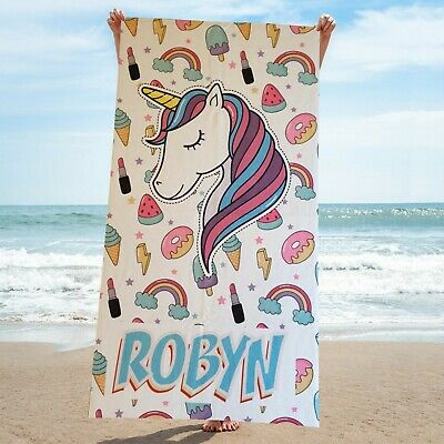 Personalised beach Towels - Add Your Own Name - Microfiber Beach Towels