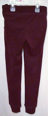H&M Youth Girls Size 10-11 Burgendy Straight Long Leg Sweat Pants Elastic Waist
