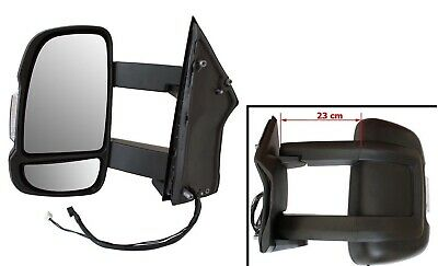 Exterior Mirror Left Long Arm Version Electronic Motorhome for Peugeot Boxer II