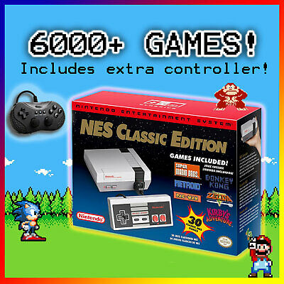 NES Classic Edition 2000+ Games Nintendo Entertainment System Mini Console 🎮