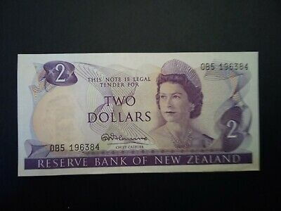 Banknote,New Zealand,(XF+)2$-1967-68.