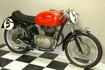 Parilla 175 Sport High Cam, 1955 vintage Italian motorcycle, modified, Exc. cond