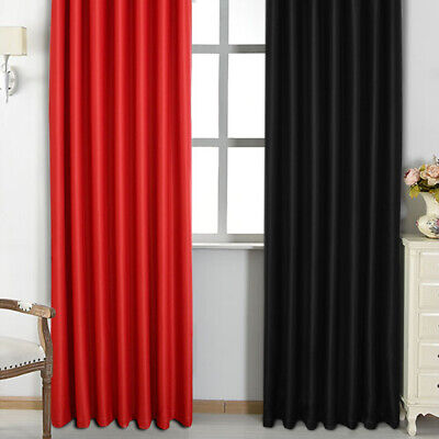 1*Blackout Curtains Ready Made Eyelet Ring Top Or Pencil Pleat+Tie Backs UK