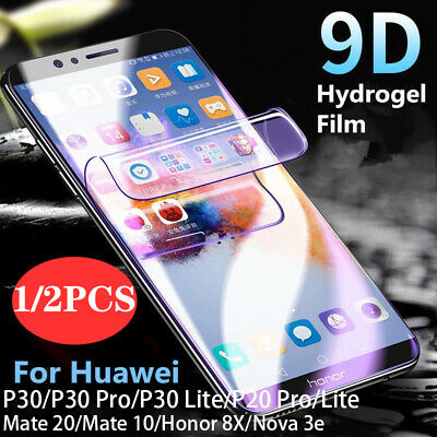 Full Curved Screen Protector Hydrogel Film For Huawei P30 Pro Mate 20 Pro Lite