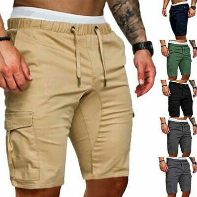 Mens Summer Shorts Gym Sport Running Workout Cargo Combat Pants Jogger Trousers