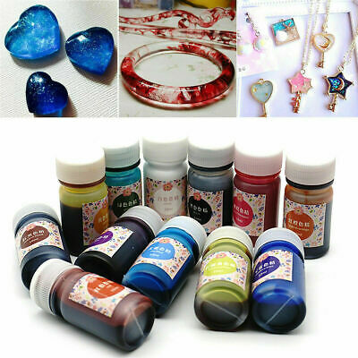 12 Bottles 12 Color Epoxy UV Resin Coloring Dye Colorant Resin Pigment DIY Craft