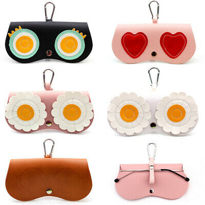 Sunglasses Box Soft Package Folding Mirror Bag Pendant Cute Glasses Case Storage