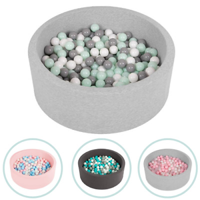 Selonis Soft Ball Pit Pool Round 90x30cm for Baby Toddler 200 Balls Foam