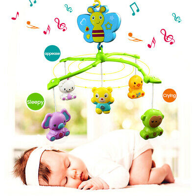 Bed Cot Stars Dream Light Baby Musical Crib Mobile Flash Nusery Toy Gift Lullaby