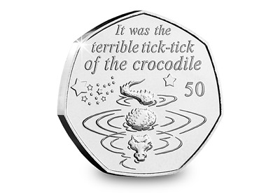 2019 Isle of Man Tick-Tock Crocodile - Peter Pan 50p coin - Uncirculated