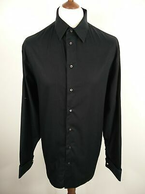 """Mens Armani Collezioni Classic Black Button Up Long Sleeved Formal Shirt 17 1/2"""""""