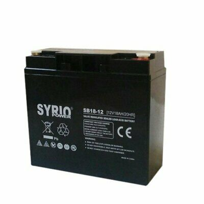 Battery 18Ah 12V hermetic rechargeable anti-theft alarm group UPS