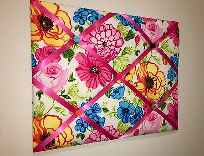Waverly Shabby Chic Floral Fabric Memo Board Pink Floral French Memory Board New