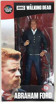 """Todd Mcfarlane Walking Dead Color Tops #7 - Abraham Ford 7"""" Action Figure MINT"""
