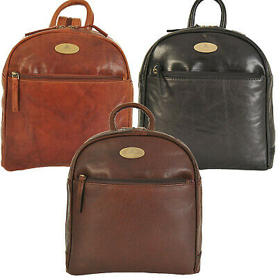 Rowallan Of Scotland Leather Zip Around Backpack 1355 RRP £74.99 Ours £49.99
