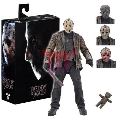 "NECA Freddy vs Jason Friday the 13th Jason Voorhees Ultimate 7"" Action Figure"